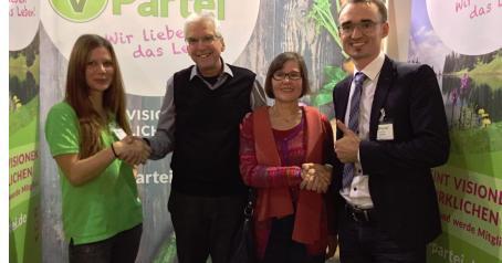 Auf der VeggieWorld Berlin 2016, mit den Bundesvorsitzenden Roland Wegner und Heike Rudolf